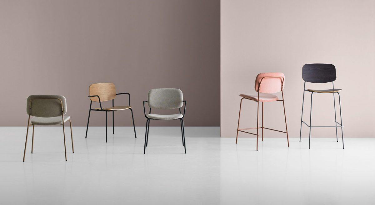 Mobboli Cap tuolimalliston erilaisia tuoleja